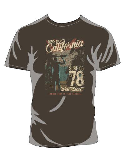 California Surf Brown shirt